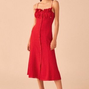 NWOT C/MEO COLLECTIVE PERFECT PART MIDI DRESS